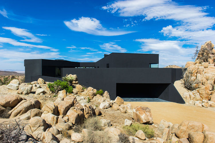 Exterior of the Yucca Valley house