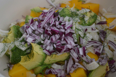 Amys Kitchen Table avocado mango fennel salad