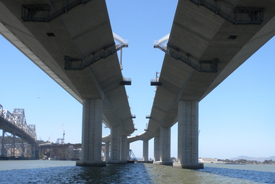 Take a trip under the new Bay Bridge on a boat tour on September 27.