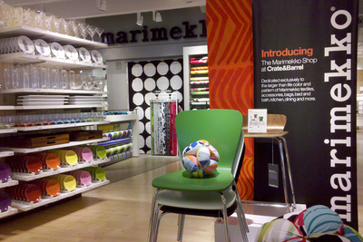Marimekko Crate and Barrel shop