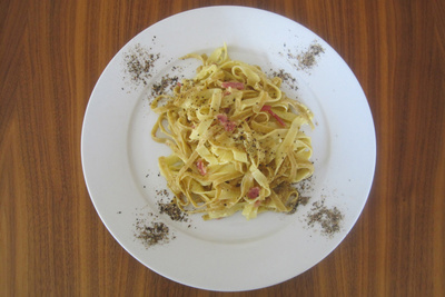 Pasta carbonnara from Anne Mooney