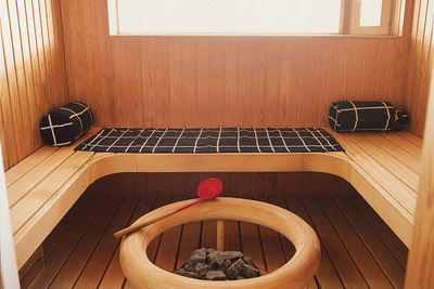 The home also features an elegant sauna—this is Finland after all.