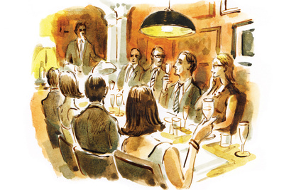theatrical dining dan williams illustration