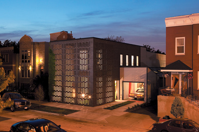 brick weave house chicago illinois exterior