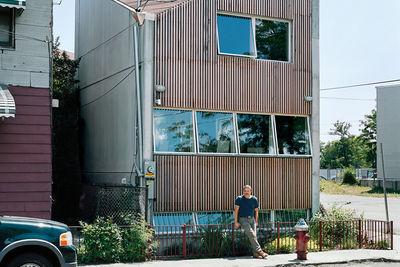 carpenter residence exterior facade portrait  crop