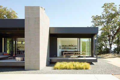 Exterior view of prefab weekend home
