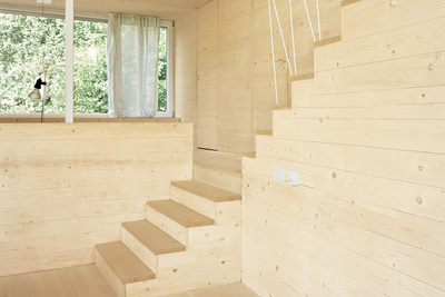 All wood interior JustK Haus