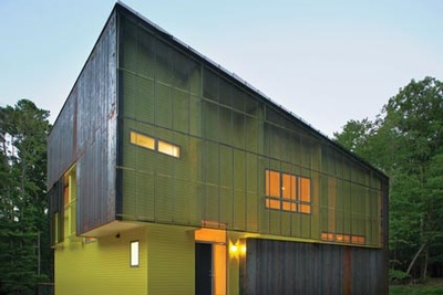 affordable modern green home in North Carolina