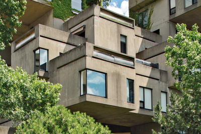 Habitat '67 building in Montreal, Canada designed by Moshe Safdie