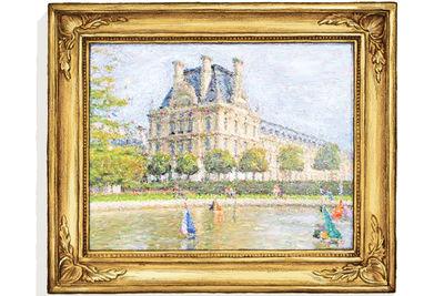 Mansion lake painting