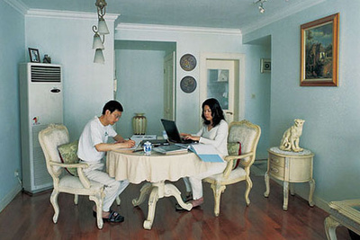 shanghai living couple kitchen