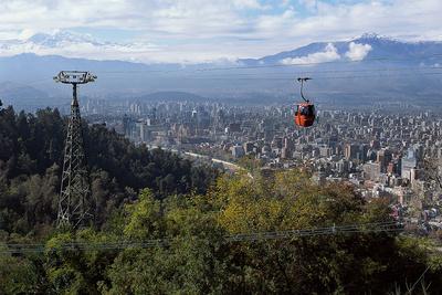 santiago chile cerro san cristobal gondolas