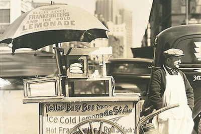 hot dog vendor nypl