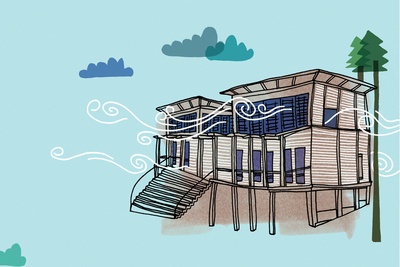 solar 101 house illustration blue  1