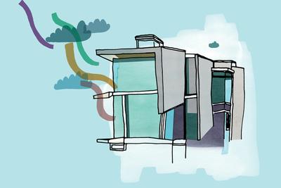 solar house illustration