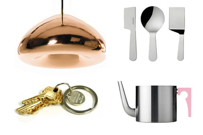 8 metallic objects