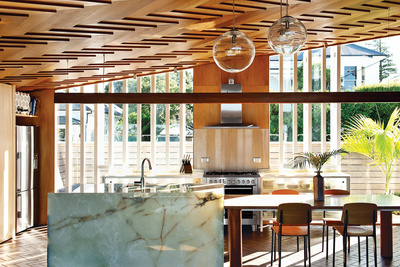 wood home kitchen