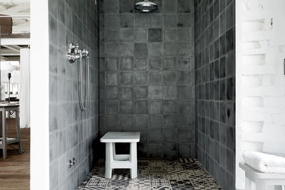 Custom Carocim tiles in shower.