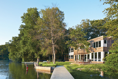 lake iosco house outside lake