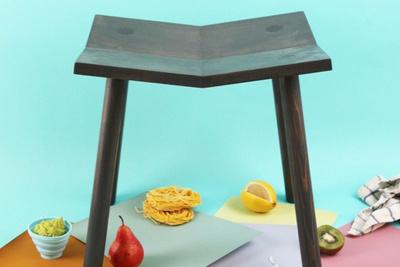 mitre stool dark
