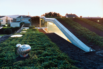 villa bio house hydroponic rooftop garden  1