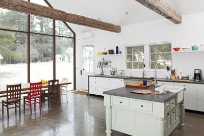 floating farmhouse kitchen dining area  0