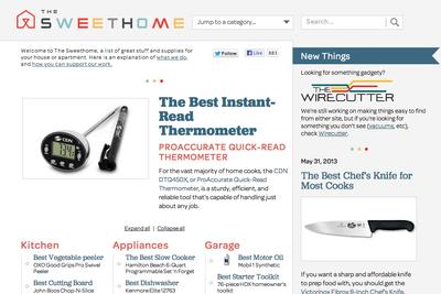 The Sweethome homepage