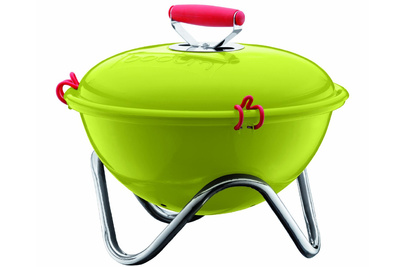bodum charcoal grill lime green