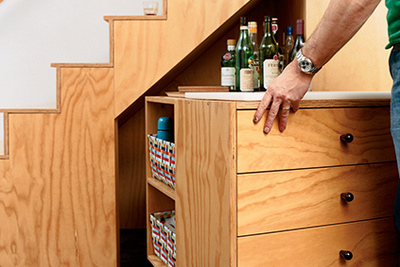 sarti house stairs storage rec