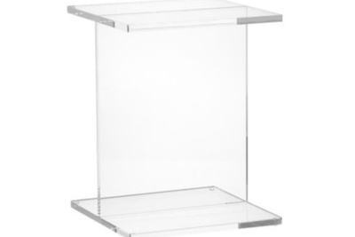 clear side table