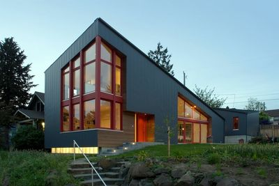 Modern metal facade home