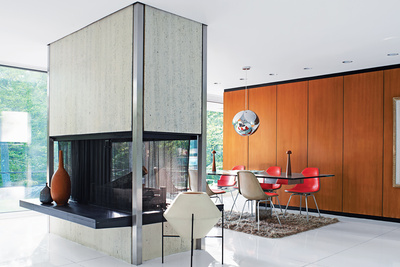 modern fireplace skidmore owings merrill house westchester county dwell magazine