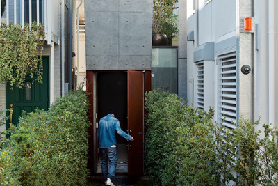 open plan concrete home japan exterior