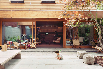 courtyard house after exterior patio