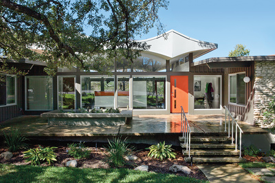 upgraded midcentury austin home exterior