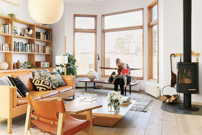 mjolk house renovation interior living room