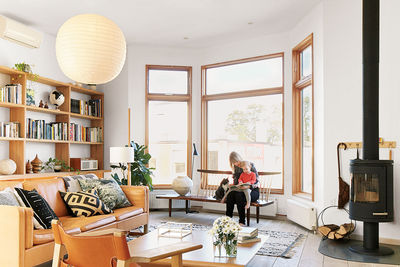 mjolk boutique owners renovate their Toronto dwelling interior living room