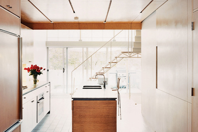 light filled wood kitchen