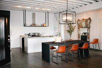 american dream builders loft orange chairs