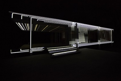farnsworth house light show