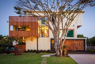 Shipping container home in Brisbane, Australia by ZieglerBuild