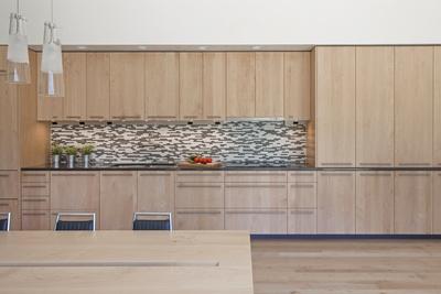 Shaw Island Prefab Passive House kitchen.