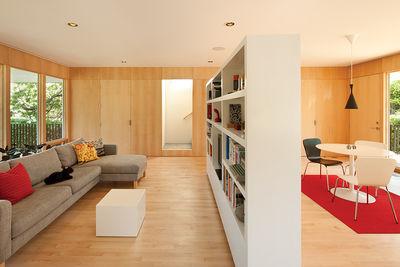 practival elegance custom bookshelf room divider living dining