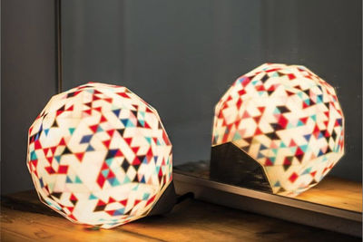 limemakers 3d printed dazzle lamp on