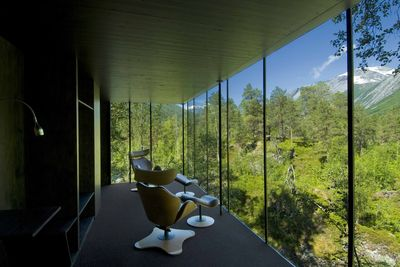 Juvet hotel in Norway with views overlooking