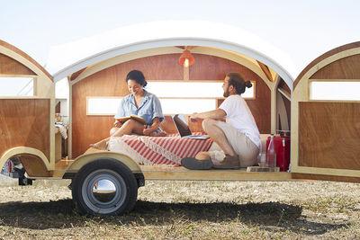 Hutte Hut prefab trailer interior fit for two