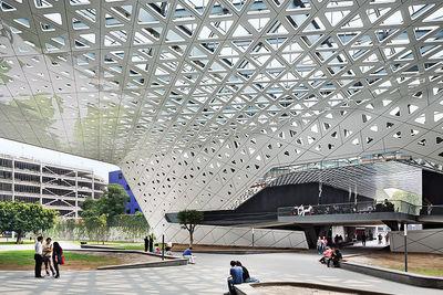 rojkind arquitectos mexico city cineteca nacional canopy aluminum