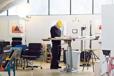 strong finnish helsinki kukkapuro open sitting area studio standing desk portrait