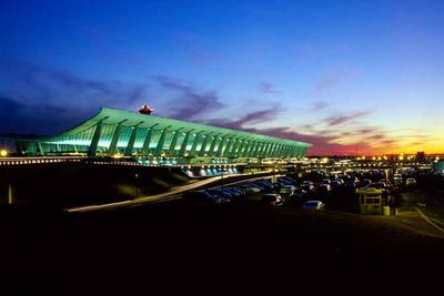 Dulles Airport, designed by Eero Saarinen.