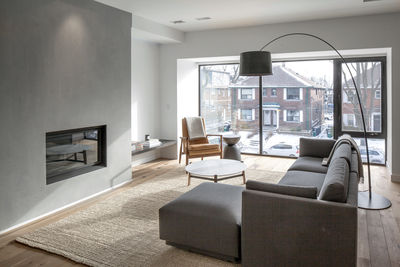 Midtown Triplex Renovation living room, Toronto